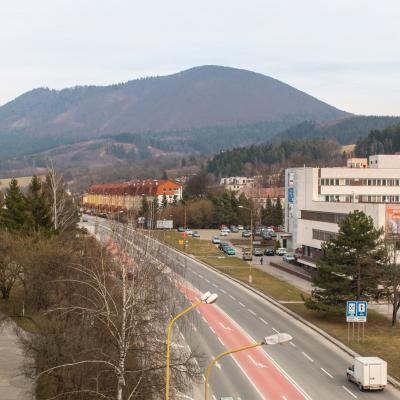 Centrum mesta Považská Bystrica.